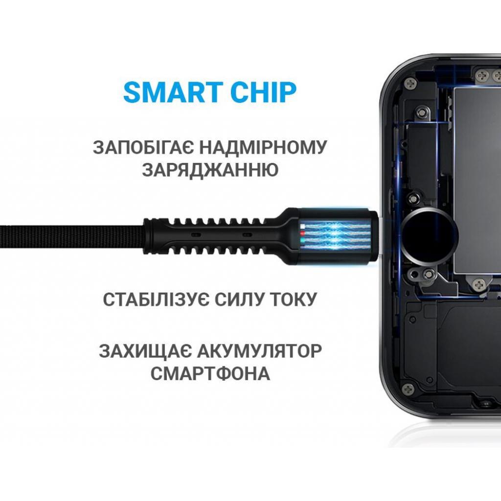 Дата кабель USB 2.0 AM to Lightning 1.0m Denim Grey MakeFuture (MCB-LD2GR) изображение 2