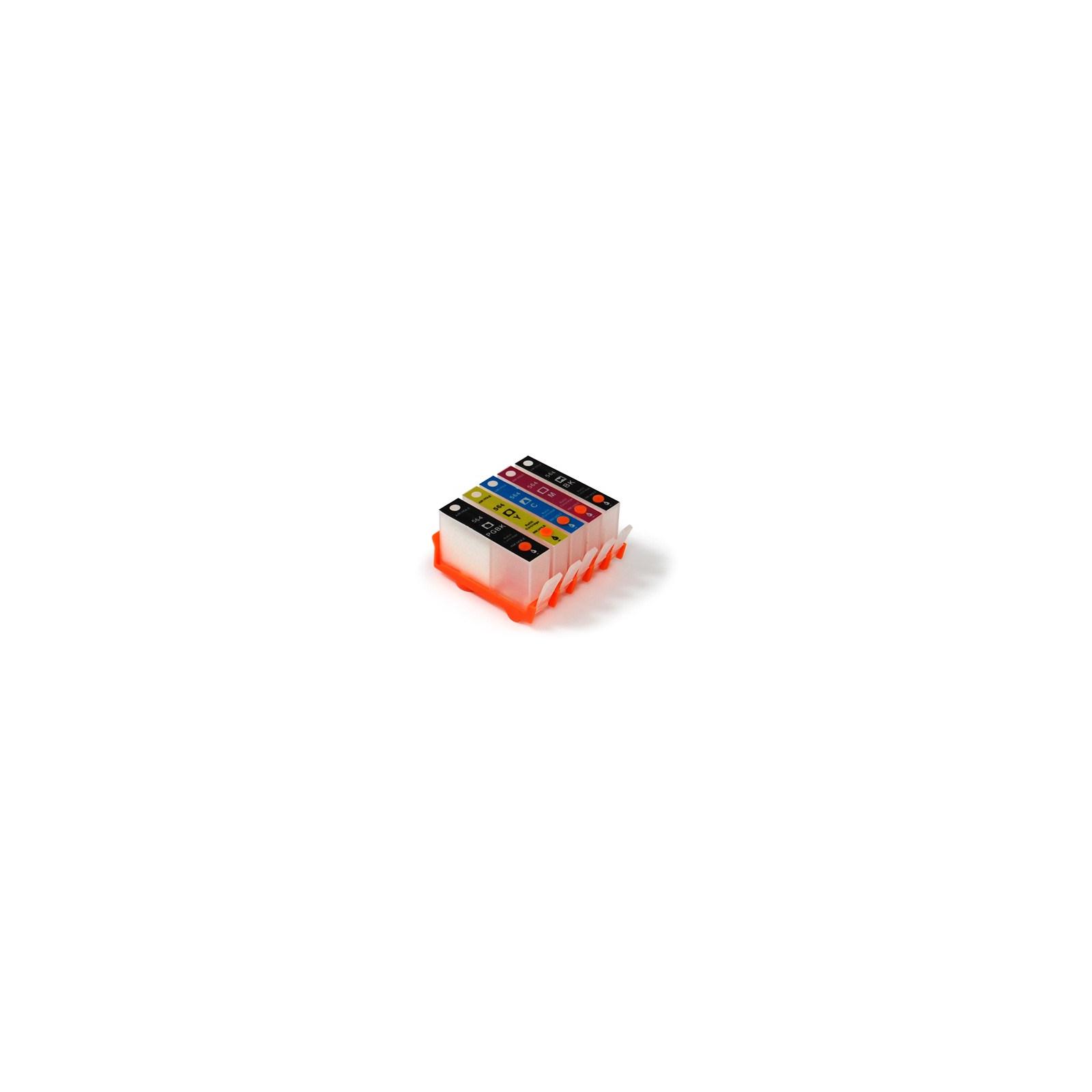 Комплект перезаправляемых картриджей SuperPrint HP PhotoSmart C5383/D5463 (DZK5-HP178)