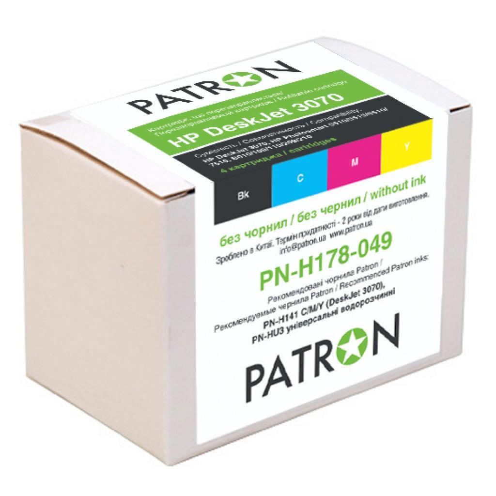 Комплект перезаправляемых картриджей PATRON HP DeskJet 3070 (4 шт) (CIR-PN-H178-049)