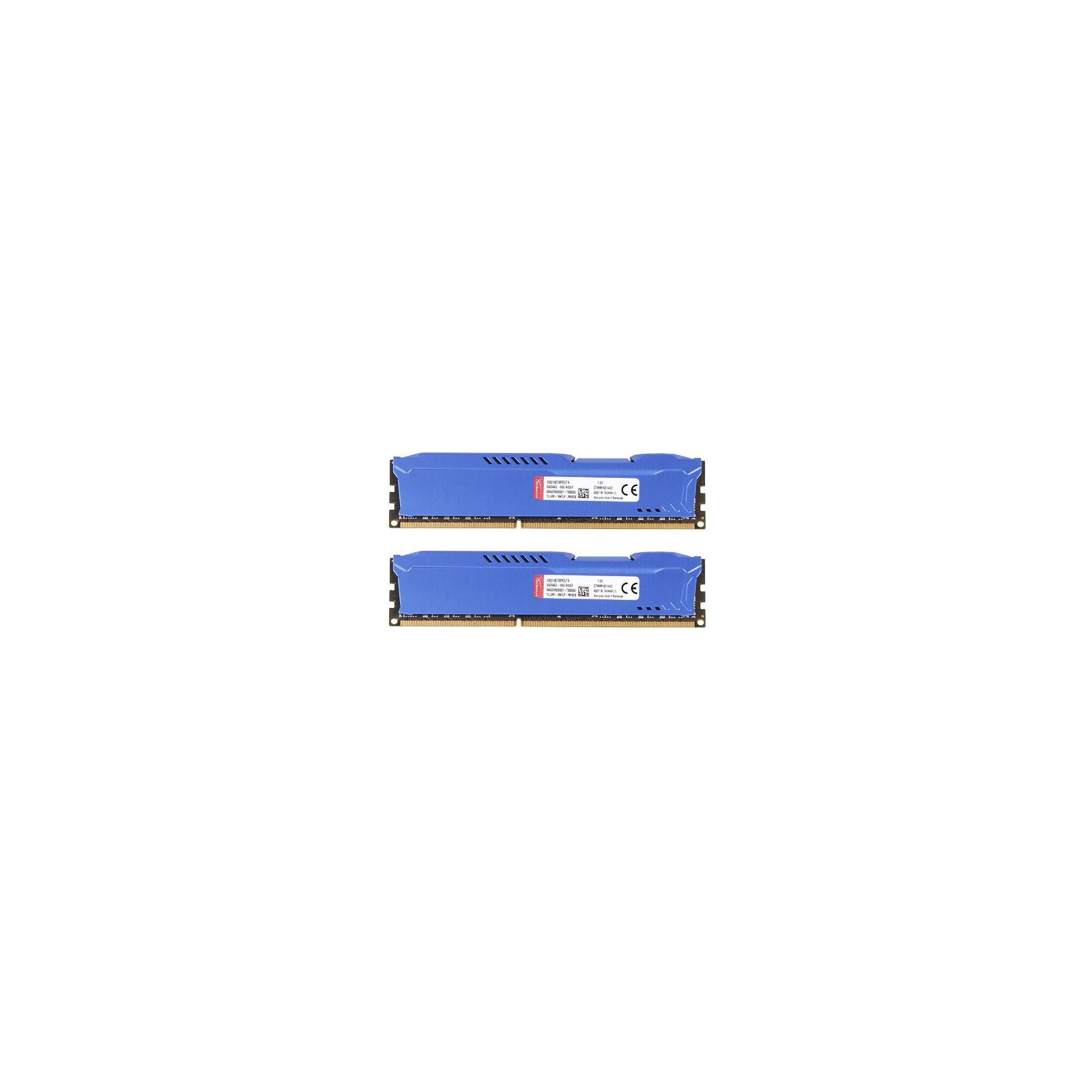 Модуль памяти для компьютера DDR3 16Gb (2x8GB) 1866 MHz HyperX Fury Blu Kingston (HX318C10FK2/16) изображение 4