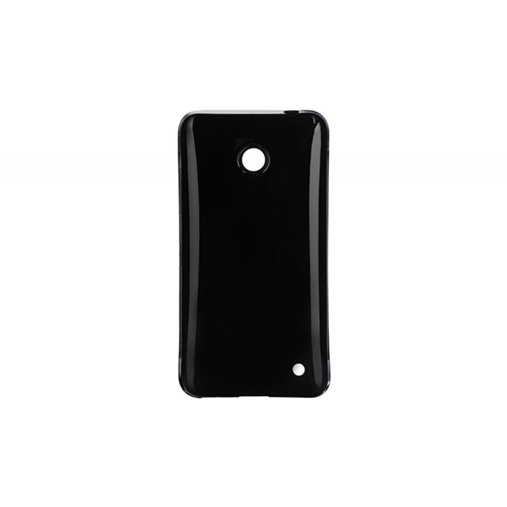 Чехол для моб. телефона Drobak для Nokia Lumia 630 Black /Elastic PU (215120)