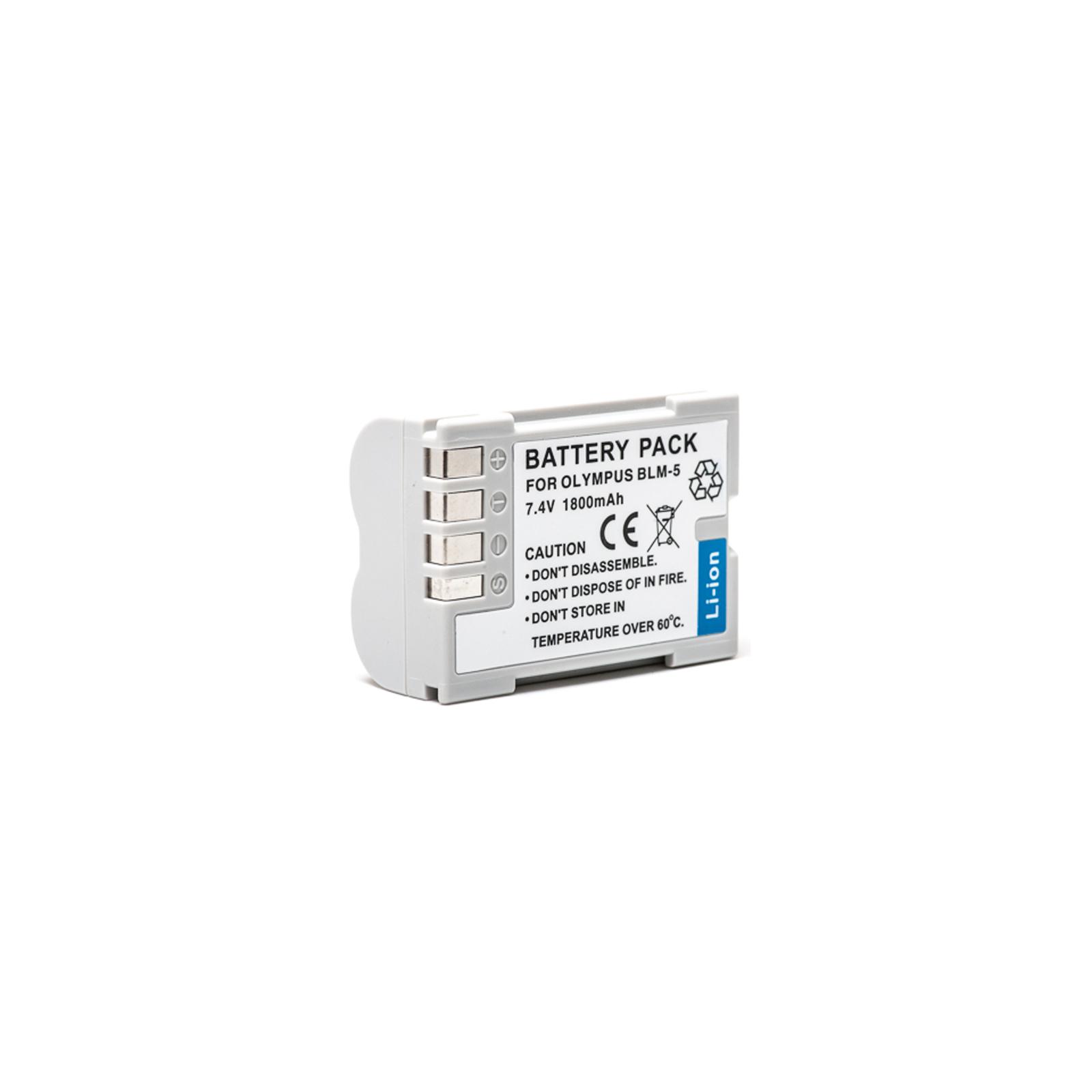 Аккумулятор к фото/видео PowerPlant Olympus PS-BLM5 (DV00DV1286)