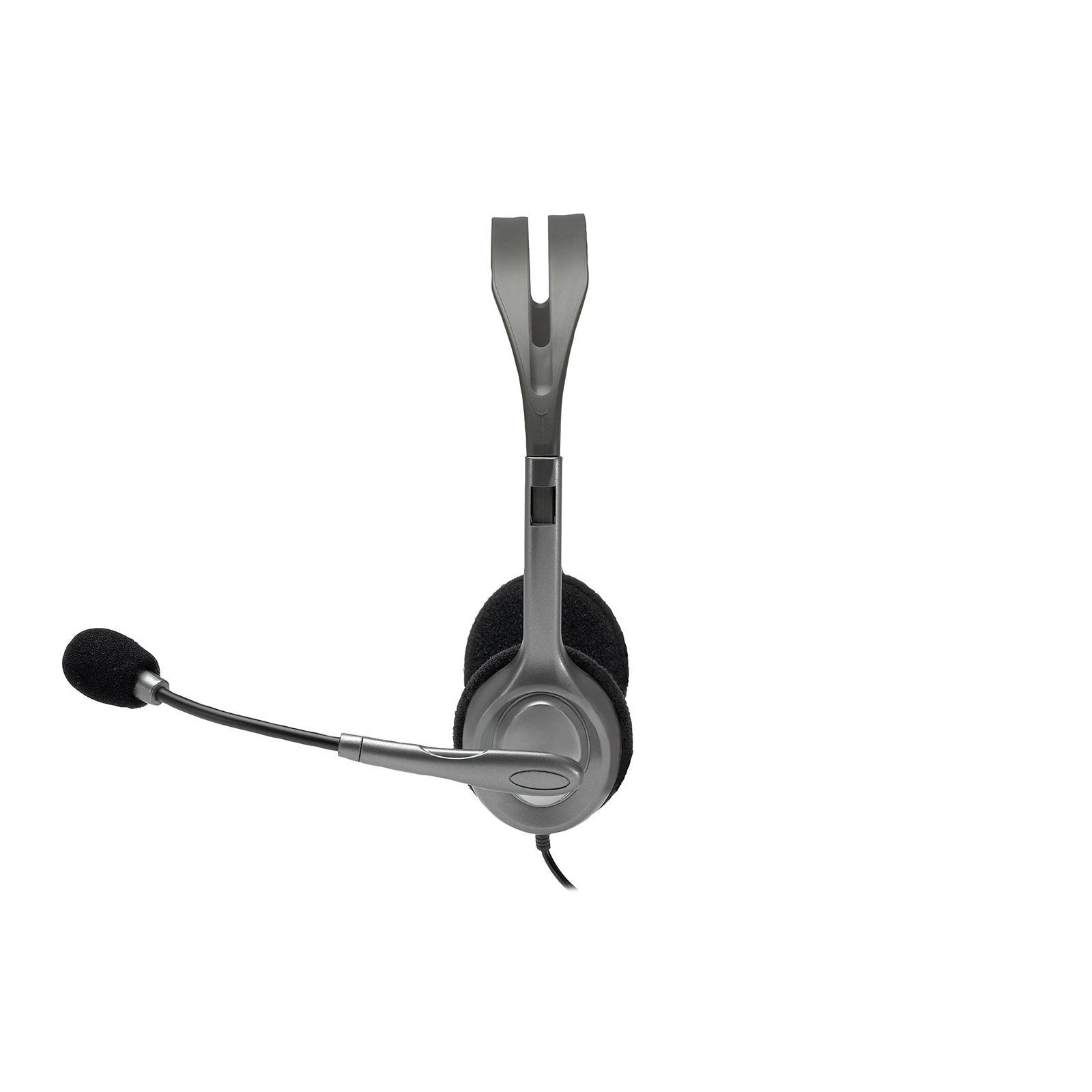 Наушники Logitech H111 Stereo Headset with 1*4pin jack (981-000593) изображение 2