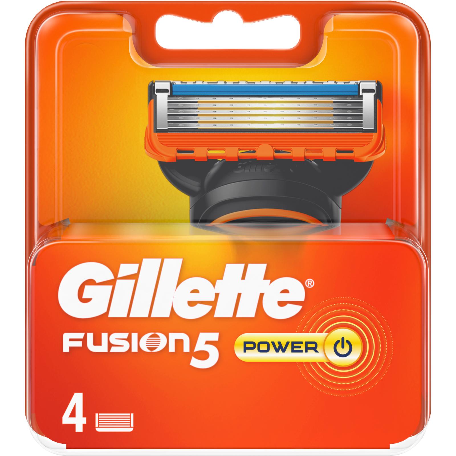 Сменные кассеты Gillette Fusion Power 4 шт (7702018877591) изображение 2