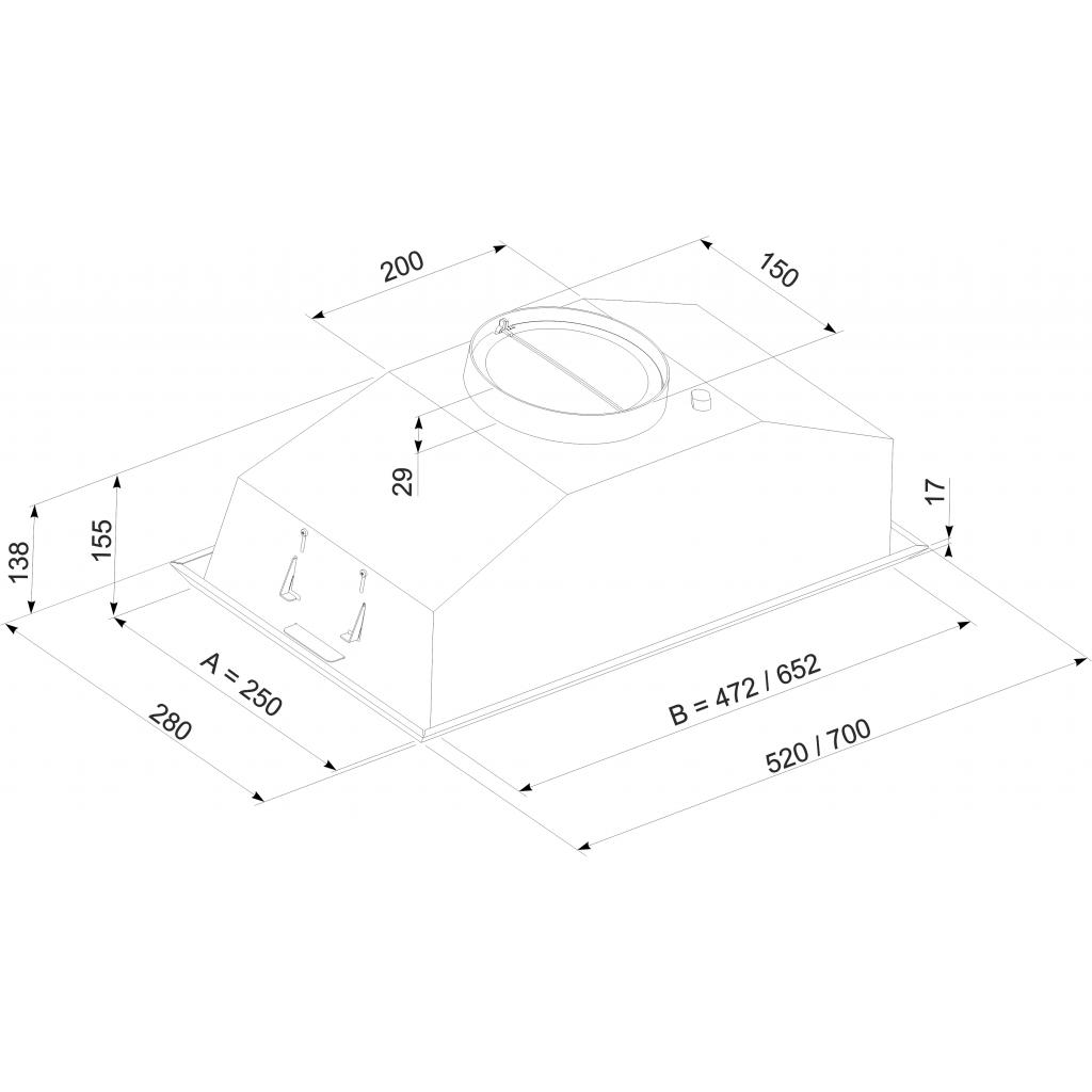Вытяжка кухонная Eleyus Modul 700 52 IS изображение 8
