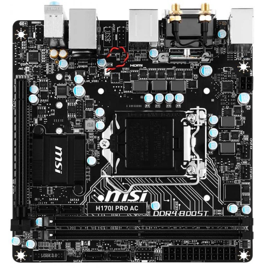 Материнская плата MSI H170I PRO AC изображение 2