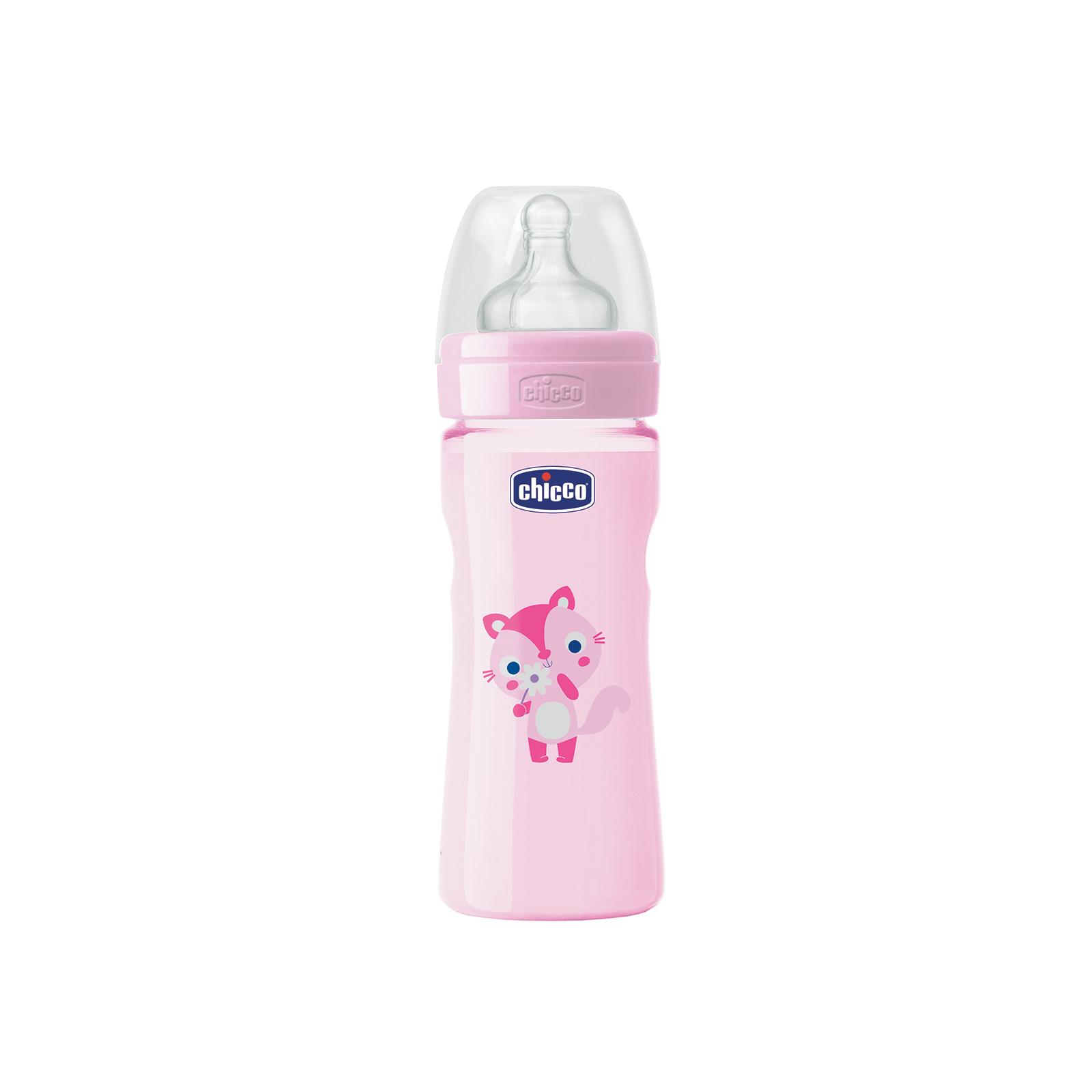 Бутылочка для кормления Chicco Well-Being 250 мл с силиконовой соской 2 мес+ (70723.11)