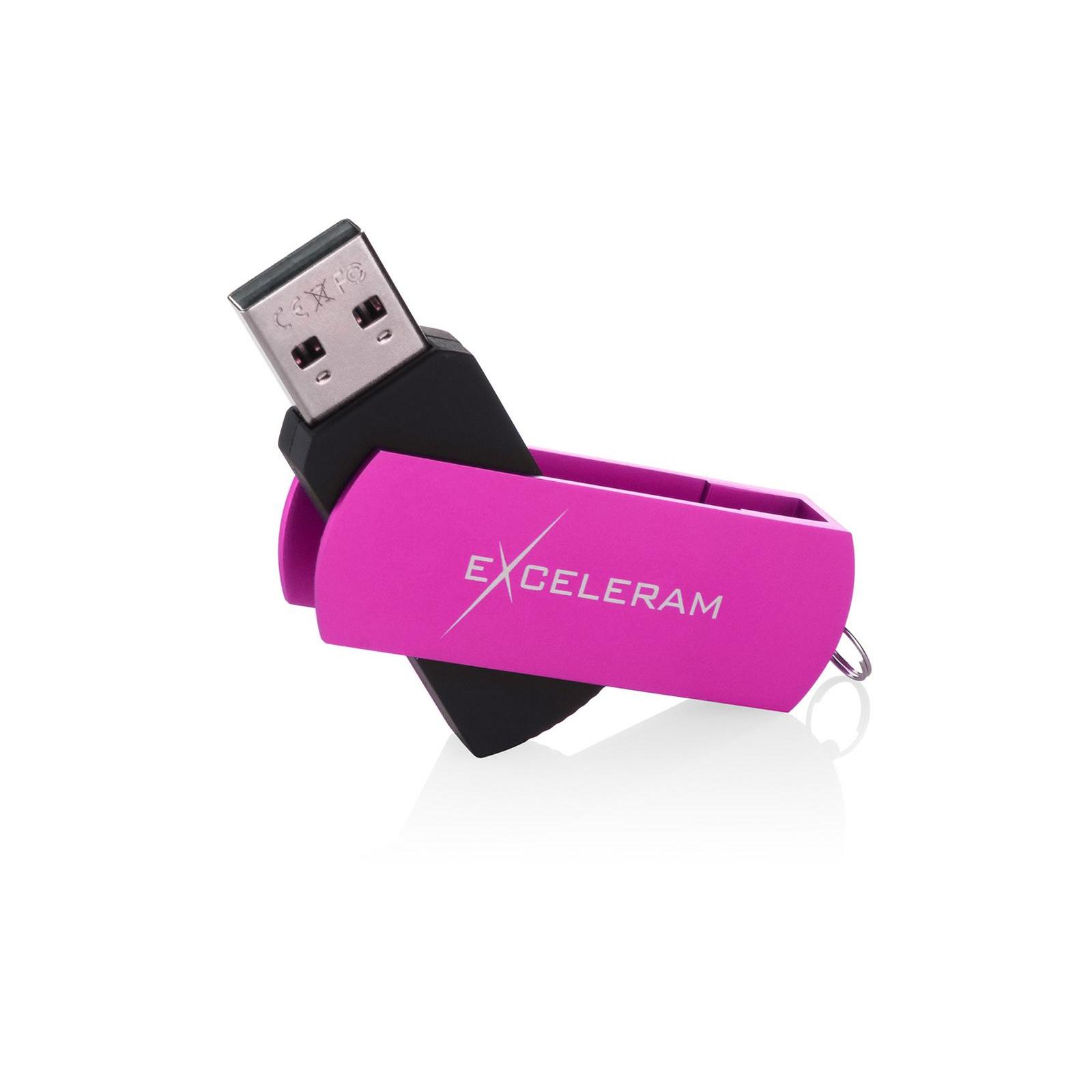 USB флеш накопитель eXceleram 8GB P2 Series Rose/Black USB 2.0 (EXP2U2ROB08) изображение 3