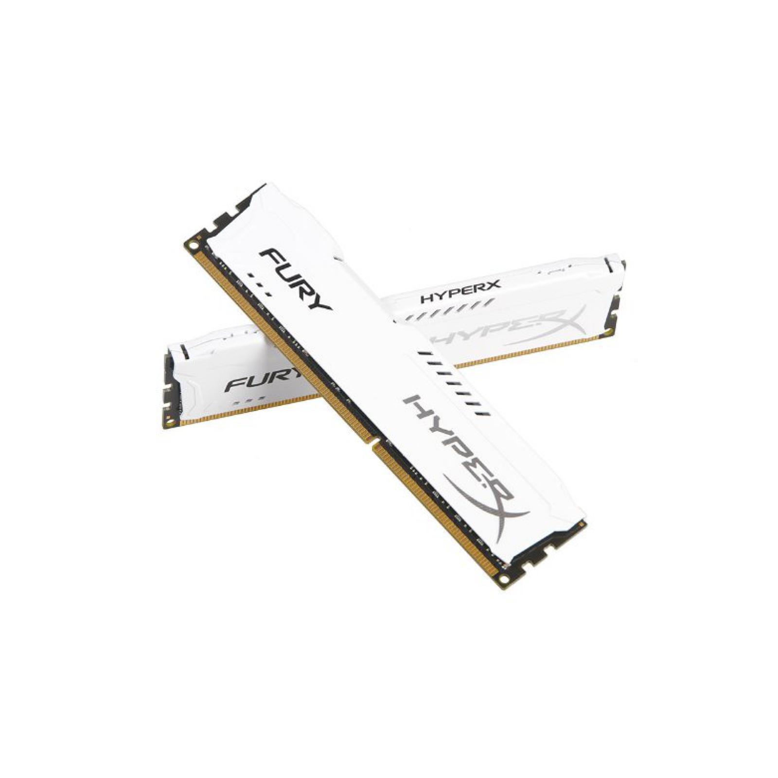 Модуль памяти для компьютера DDR4 32GB (2x16GB) 3466 MHz HyperX FURY White HyperX (Kingston Fury) (HX434C19FWK2/32) изображение 3
