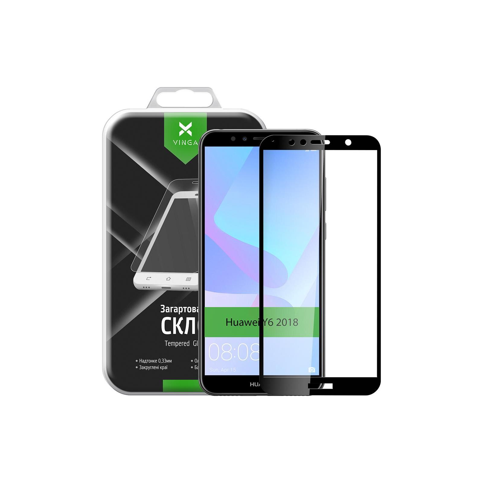Стекло защитное Vinga для Huawei Y6 2018 (Black) (VTPGS-Y62018) изображение 10