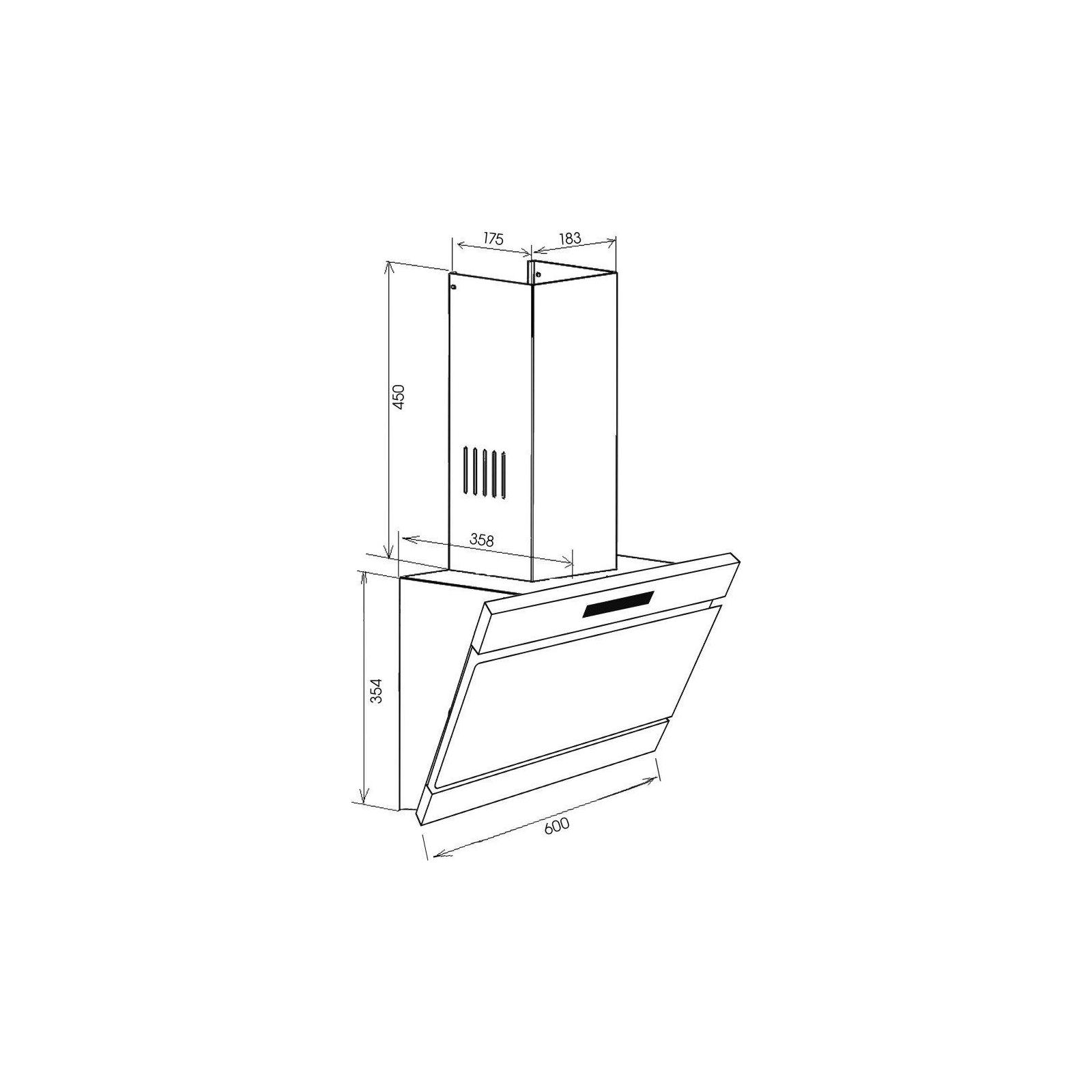 Вытяжка кухонная ZIRTAL FORTE 60 BL изображение 7