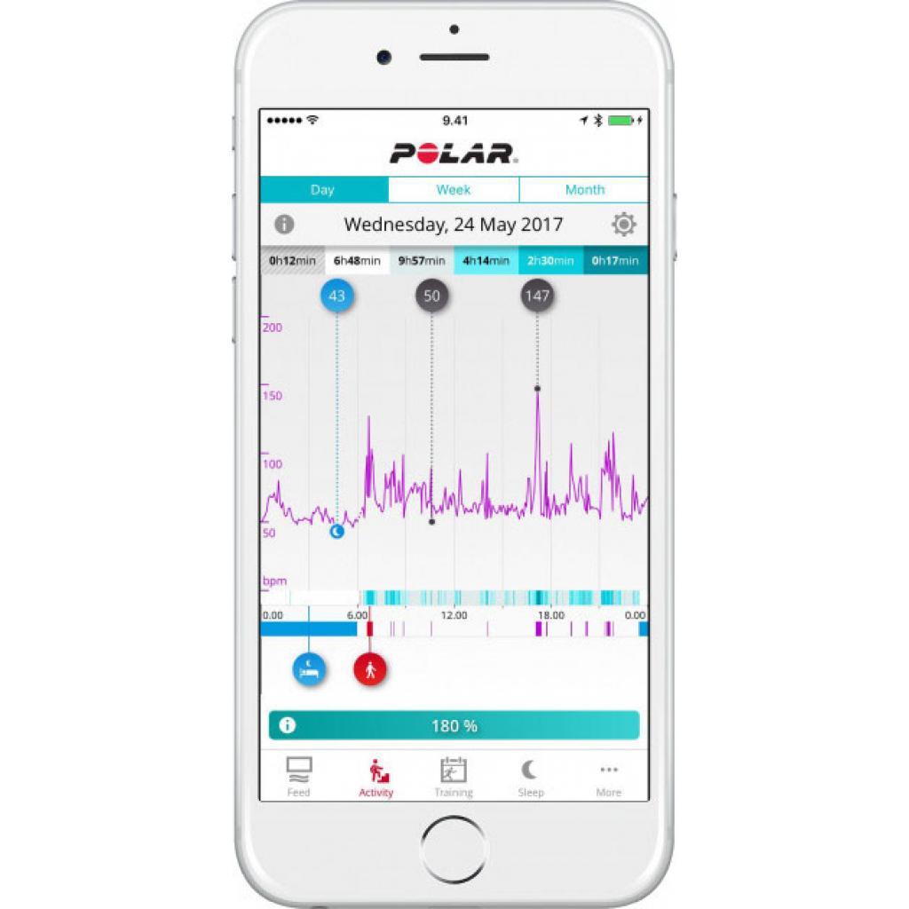 Фитнес браслет Polar A370 for Android/iOS Ruby S (90070095) изображение 3