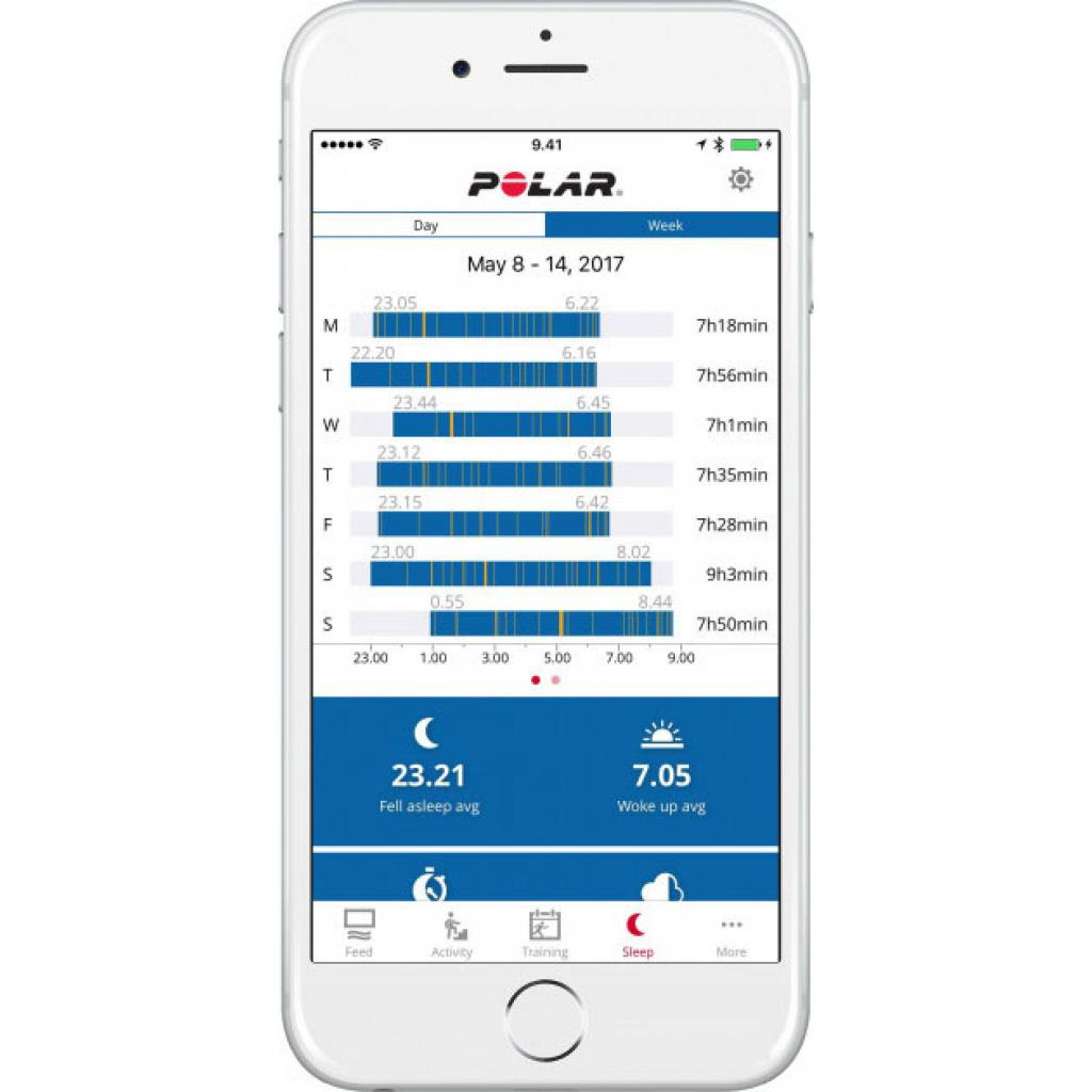 Фитнес браслет Polar A370 for Android/iOS Ruby S (90070095) изображение 4