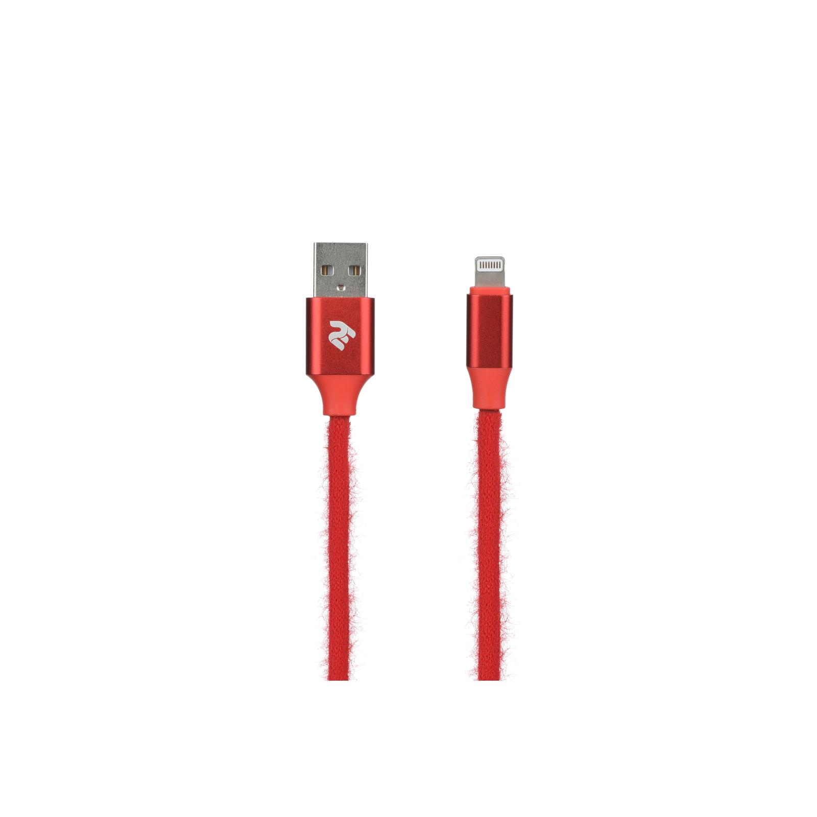 Дата кабель USB 2.0 AM to Lightning 1.0m Fur black 2E (2E-CCLAC-BLACK)