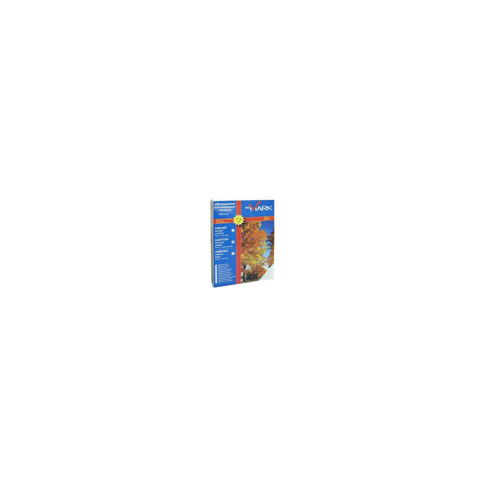 Обложка для переплета bindMARK карт. Кантри А4 230г/м2 (100 шт.) коричневая (41714)