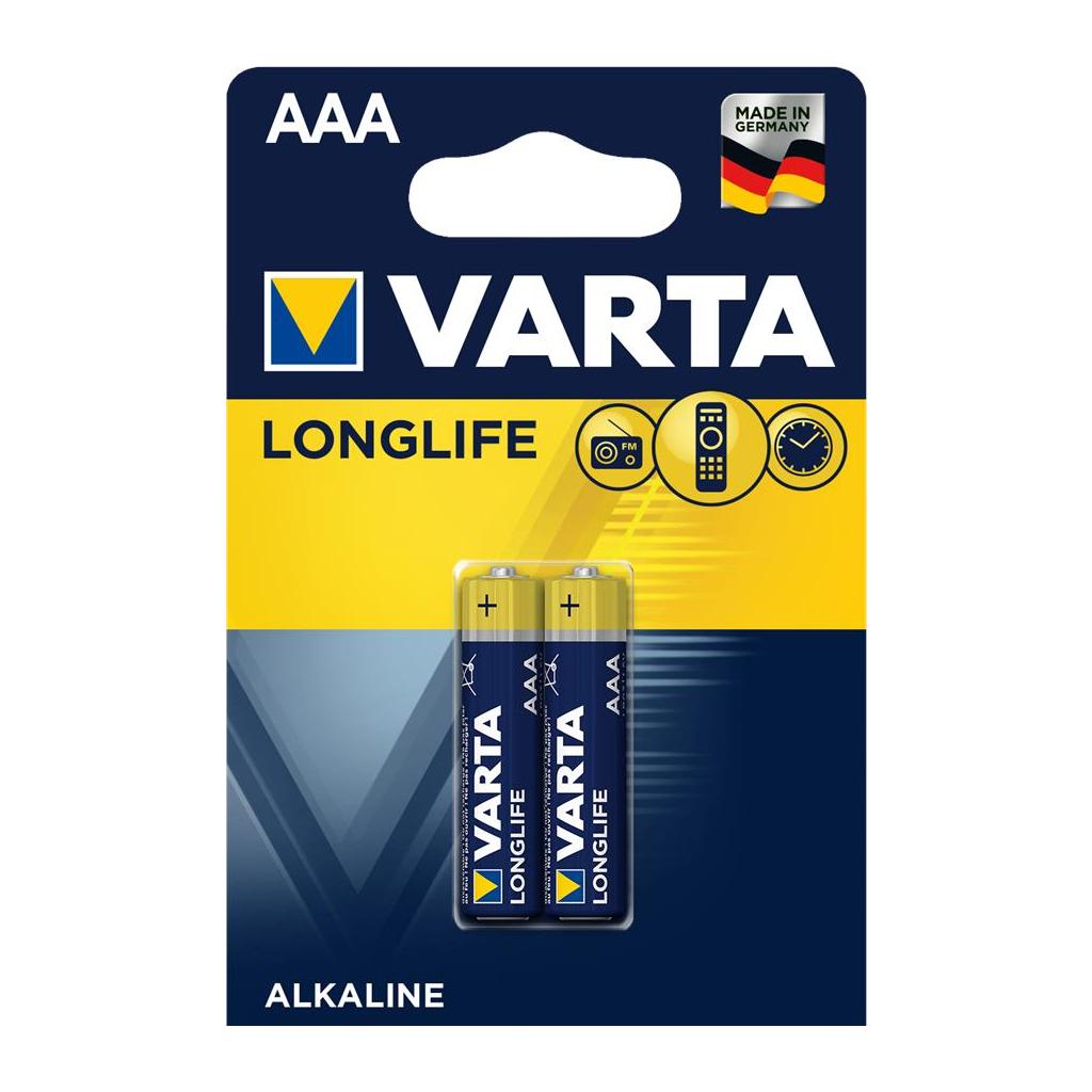 Батарейка Varta AAA Varta Longlife LR03 * 2 (04103101412)