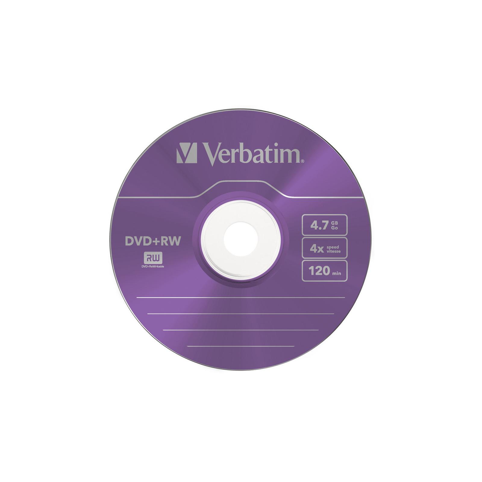 Диск DVD Verbatim 4.7Gb 4x SlimCase 5шт Color (43297) изображение 3
