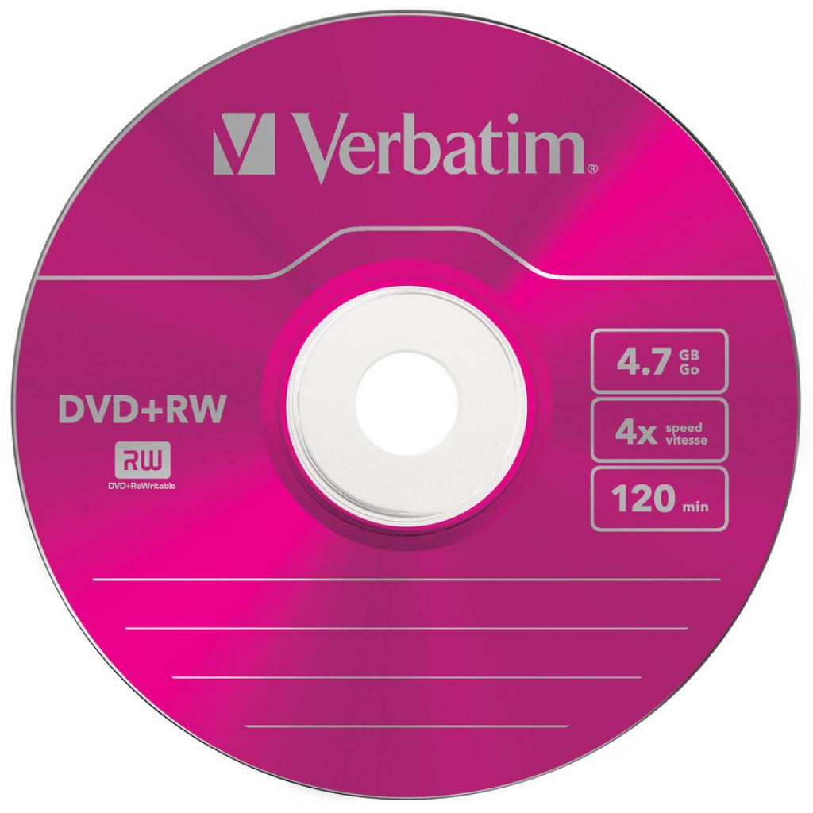Диск DVD Verbatim 4.7Gb 4x SlimCase 5шт Color (43297) изображение 4