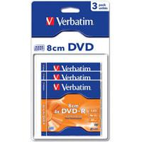 Диск DVD-R Verbatim 1.4Gb 4X MattSilver Hardcoated 3шт (43592)