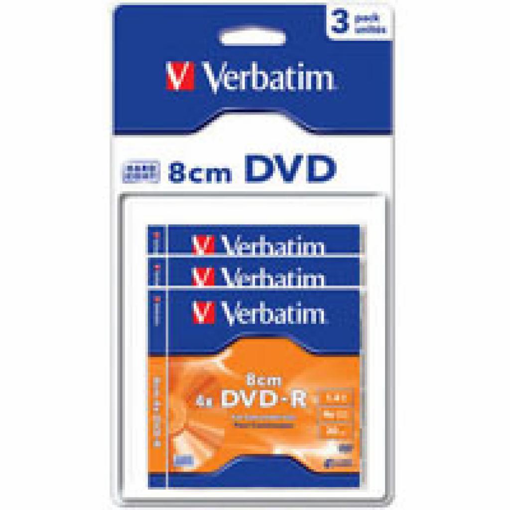 Диск DVD Verbatim 1.4Gb 4X MattSilver Hardcoated 3шт (43592)