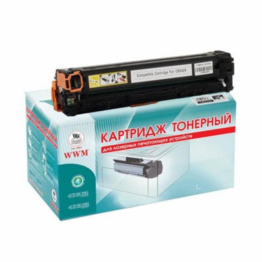 Картридж WWM для HP CLJ CP1215/CP1515 Yellow (LC37YN)