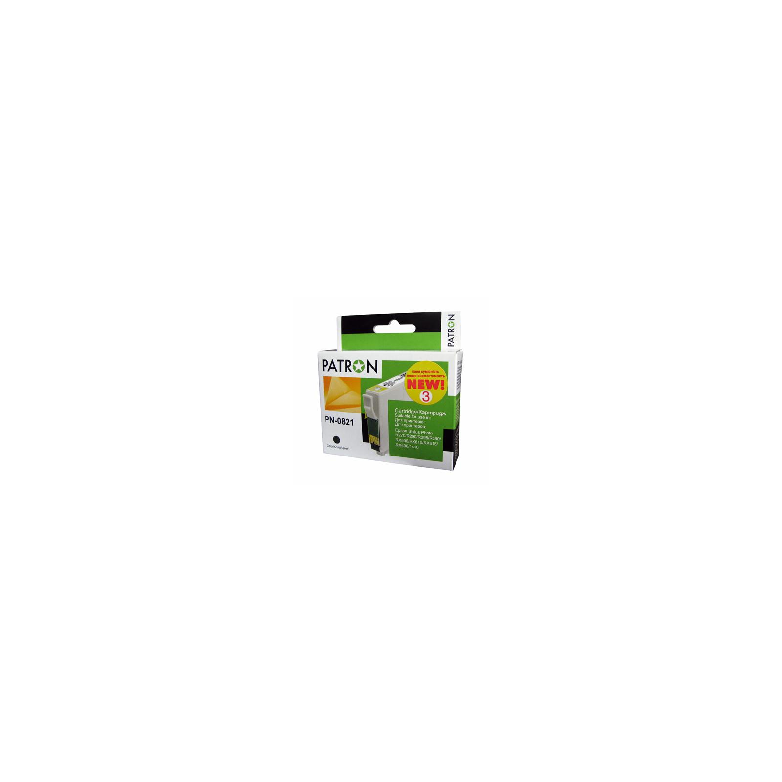 Картридж PATRON для EPSON R270/290/390/RX590 BLACK (PN-0821) (CI-EPS-T08114-B3-PN)