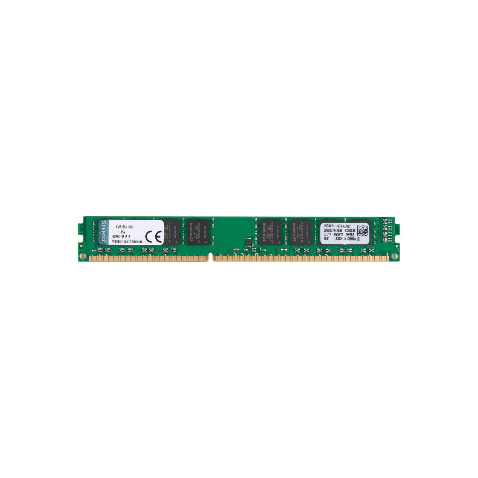 Модуль памяти для компьютера DDR3 8GB 1600 MHz Kingston (KVR16LN11/8)