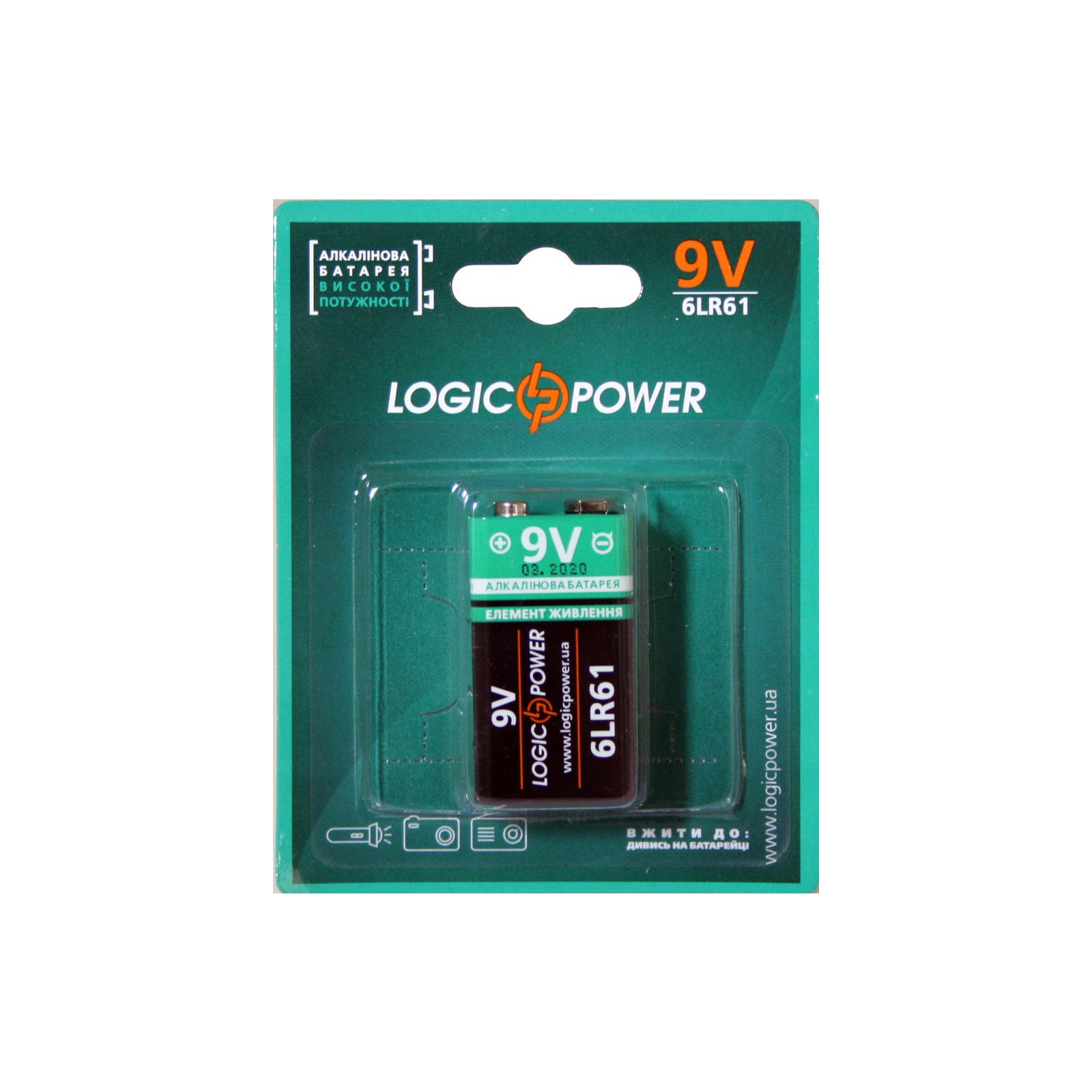 Батарейка LogicPower Крона 6LR61 * 1 (3437)