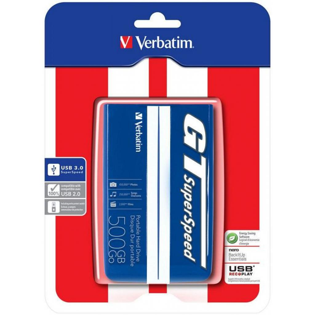"""Внешний жесткий диск 2.5"""" 1TB Verbatim (53083) изображение 7"""