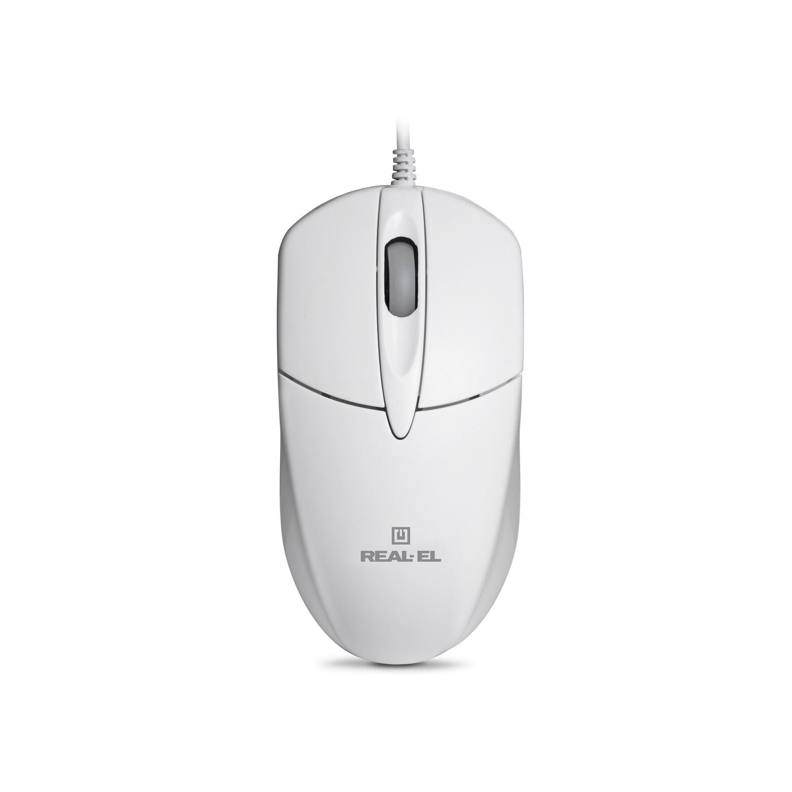 Мышка REAL-EL RM-211, USB, white изображение 2