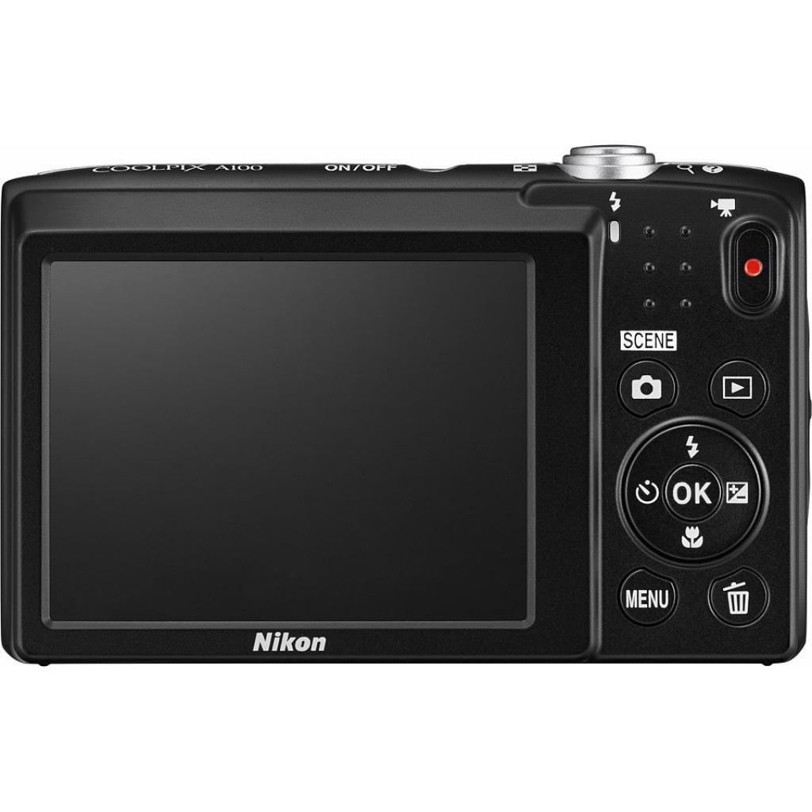 Цифровой фотоаппарат Nikon Coolpix A100 Black (VNA971E1) изображение 3