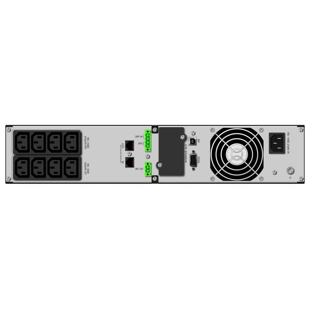 Источник бесперебойного питания Mustek PowerMust 1090 RM Online LCD (98-ONC-R1009) изображение 2