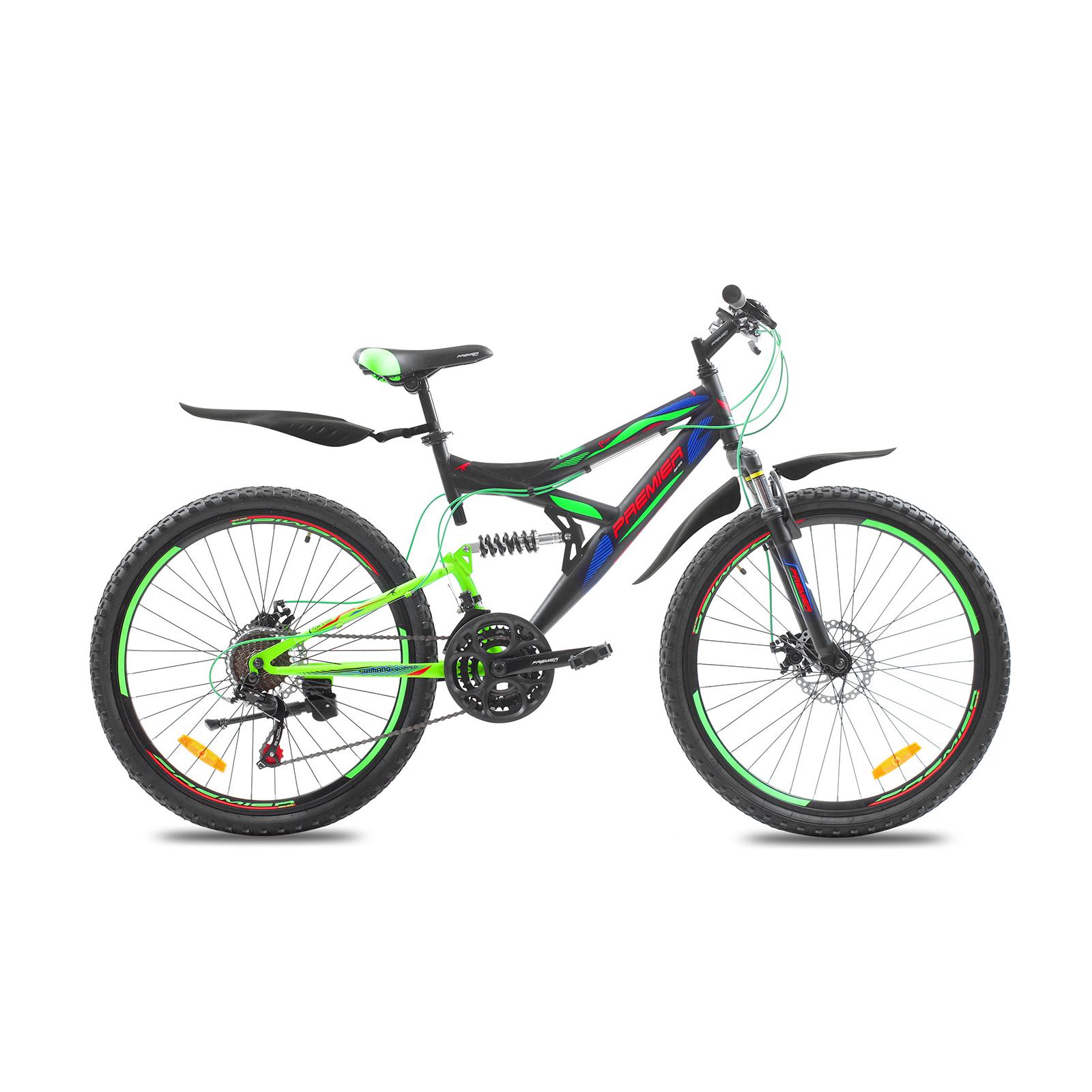 """Велосипед Premier Raptor Disc 18"""" черный с зеленым (SP0001477)"""