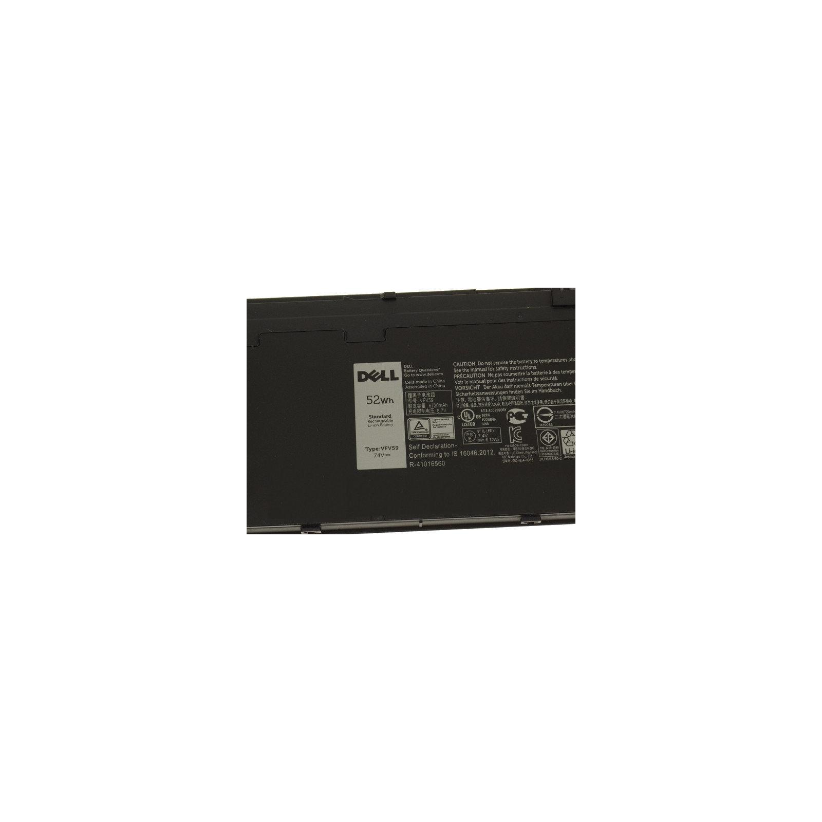 Аккумулятор для ноутбука Dell Latitude E7250 VFV59, 6720mAh (52Wh), 6cell, 7.4V (A47164) изображение 3