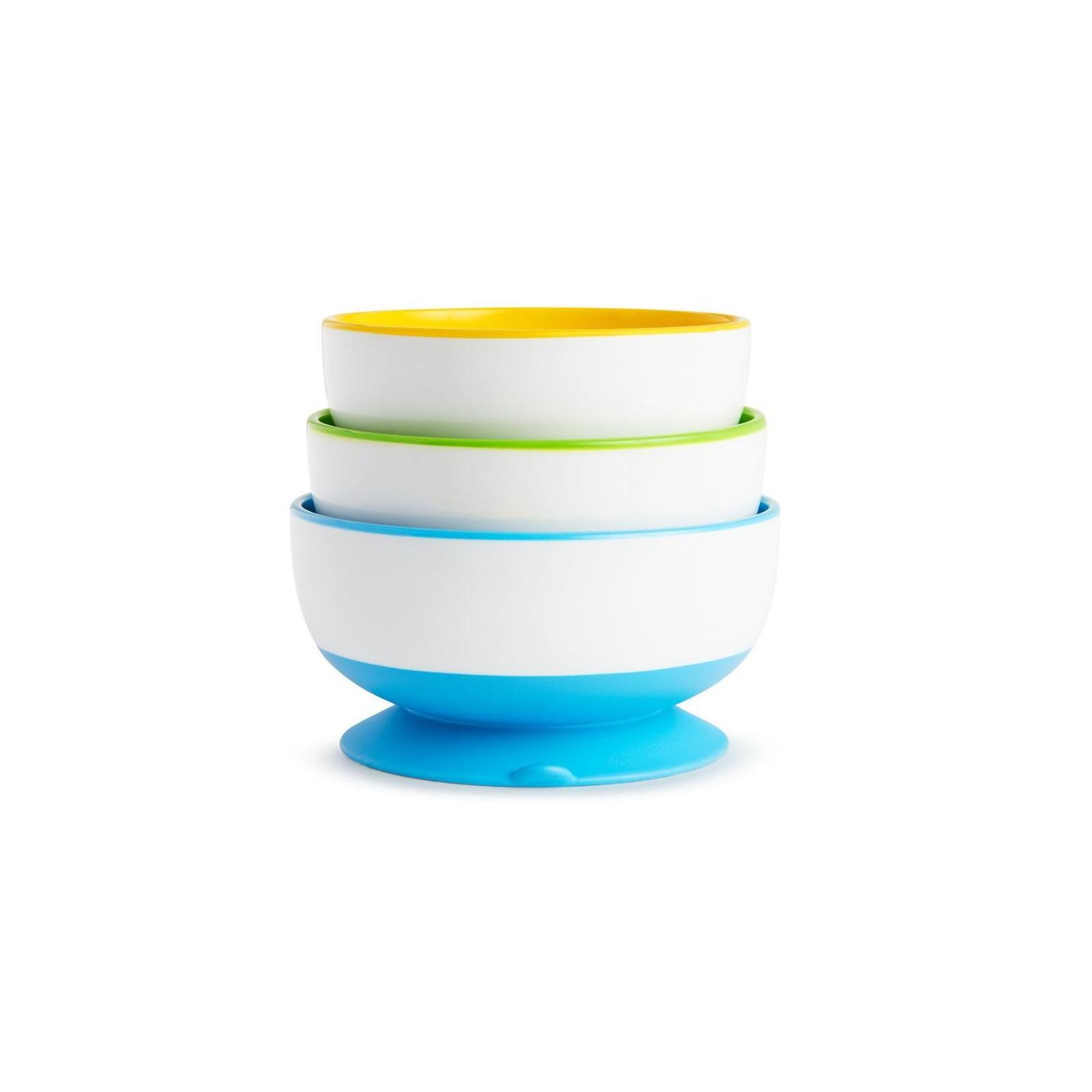 Набор детской посуды Munchkin тарелки с присосками 3 шт. (01107504) изображение 2