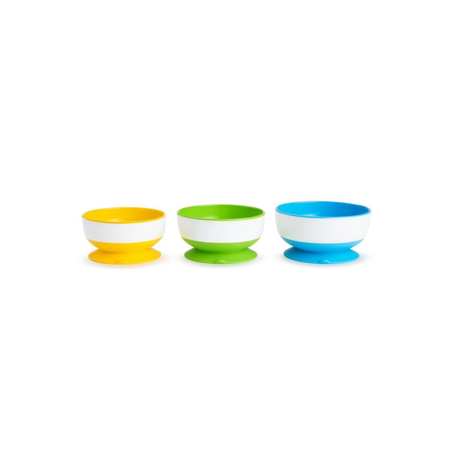 Набор детской посуды Munchkin тарелки с присосками 3 шт. (01107504)