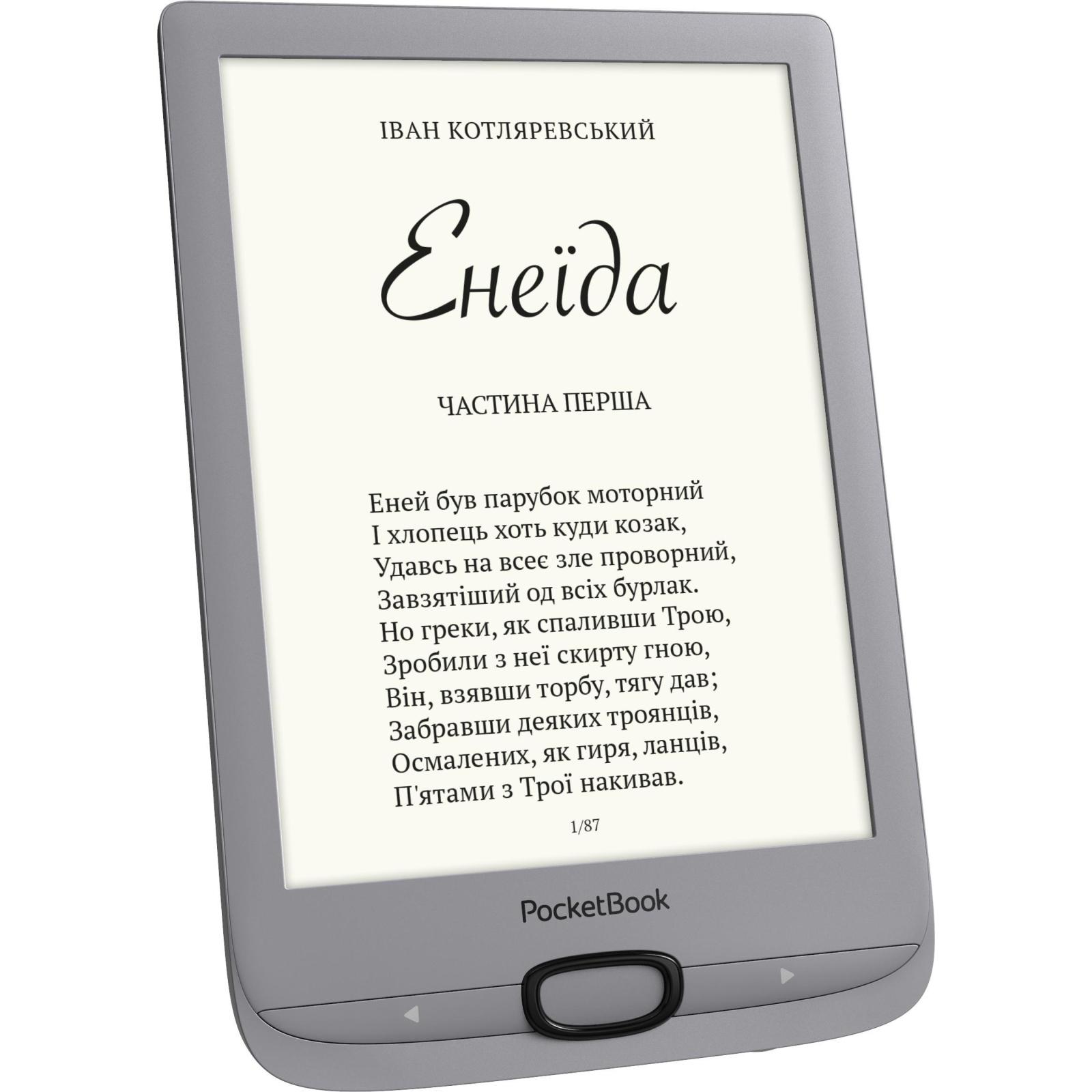 Электронная книга PocketBook 616 Basic Lux2, Silver (PB616-S-CIS) изображение 2