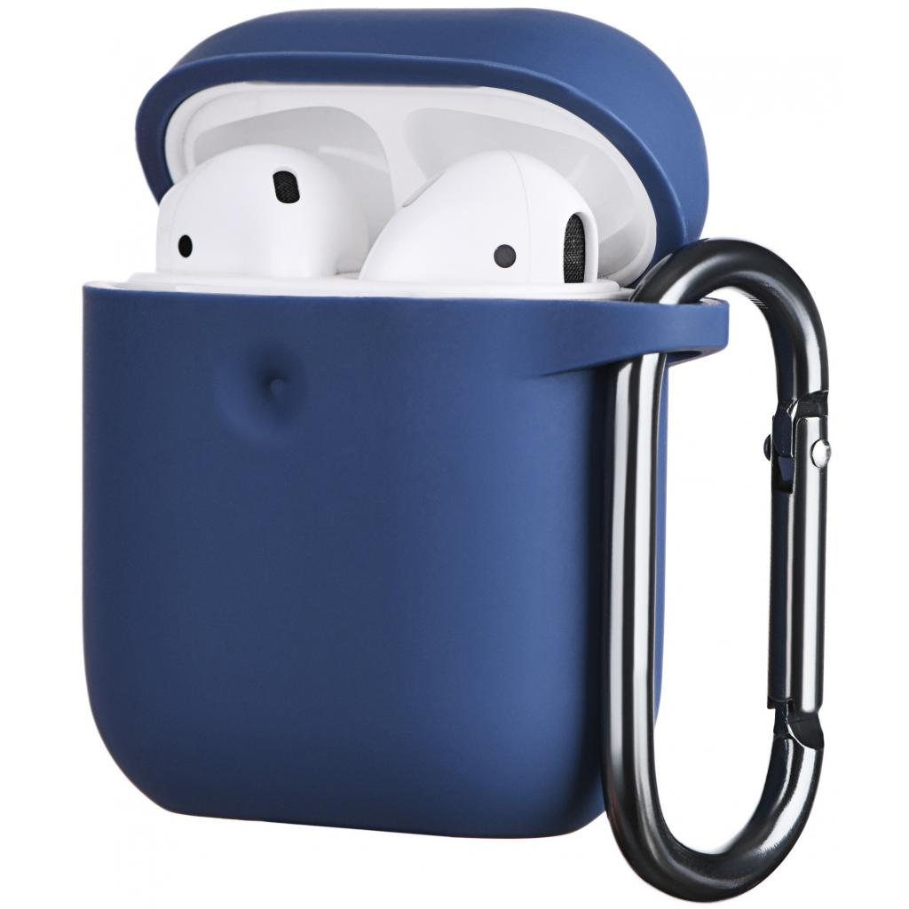 Чохол 2E для Apple AirPods Pure Color Silicone 3.0 мм Navy (2E-AIR-PODS-IBPCS-3-NV) зображення 2