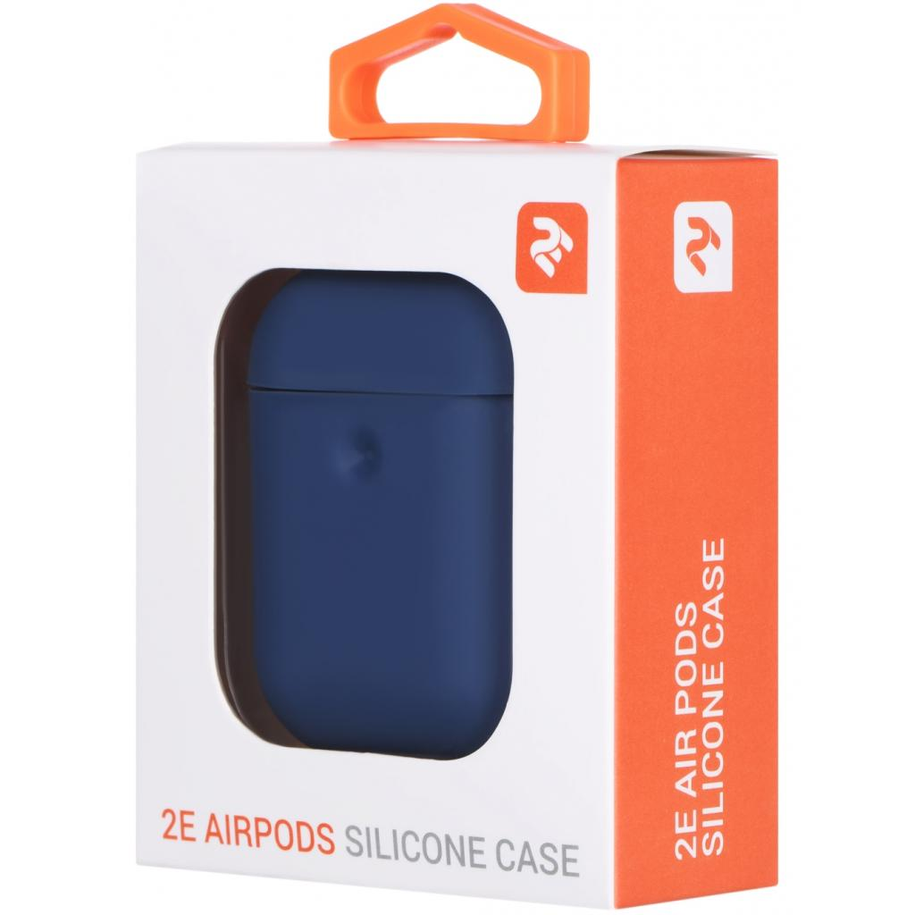 Чохол 2E для Apple AirPods Pure Color Silicone 3.0 мм Navy (2E-AIR-PODS-IBPCS-3-NV) зображення 3