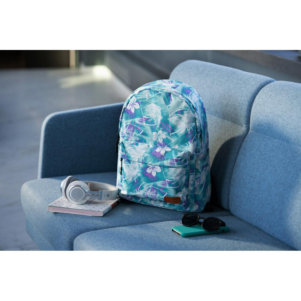 "Рюкзак для ноутбука 2E 13"" TeensPack Wildflowers, Green-blue (2E-BPT6114GB) зображення 10"