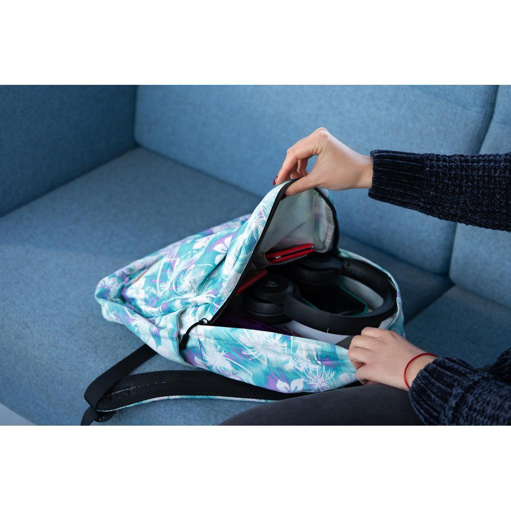 "Рюкзак для ноутбука 2E 13"" TeensPack Wildflowers, Green-blue (2E-BPT6114GB) зображення 11"