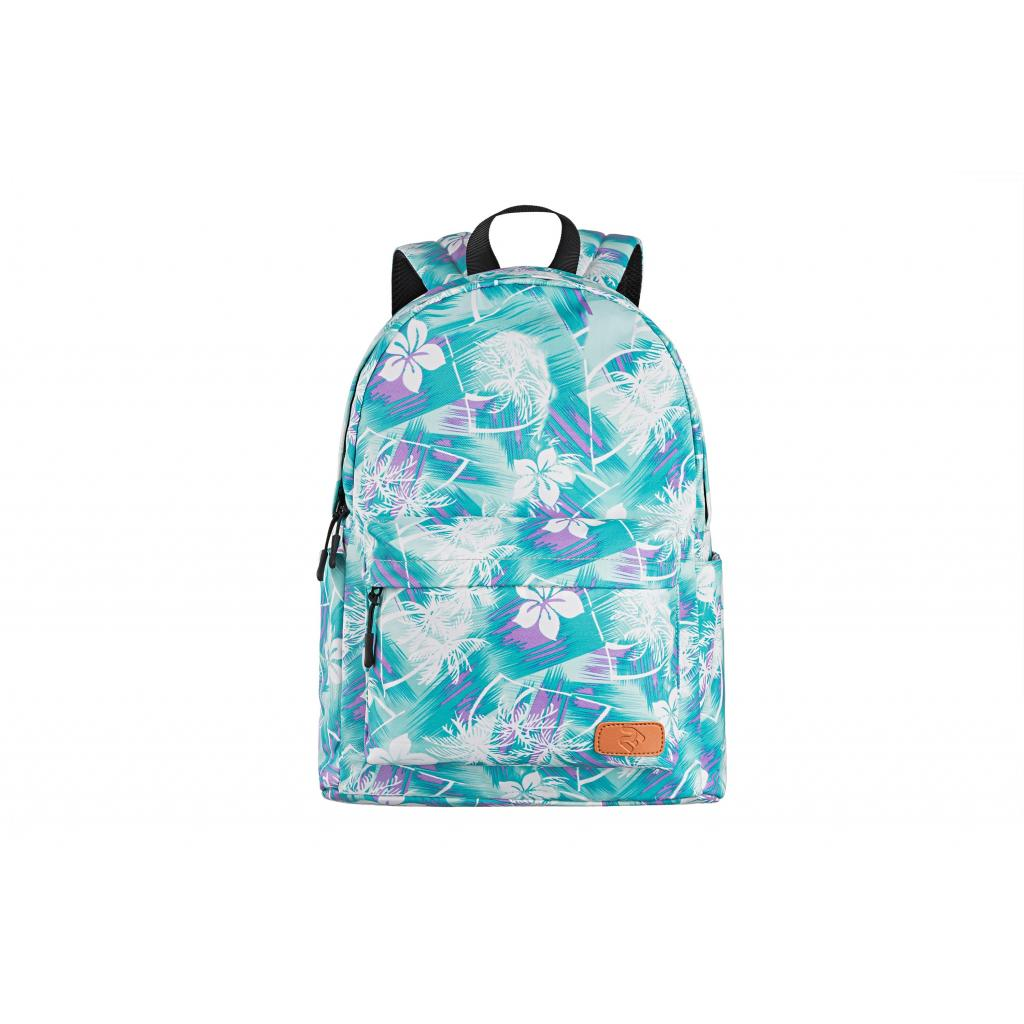 "Рюкзак для ноутбука 2E 13"" TeensPack Wildflowers, Green-blue (2E-BPT6114GB) зображення 2"
