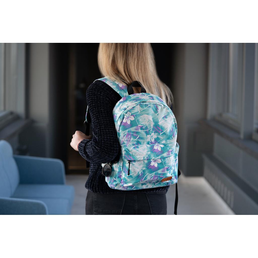"Рюкзак для ноутбука 2E 13"" TeensPack Wildflowers, Green-blue (2E-BPT6114GB) зображення 9"