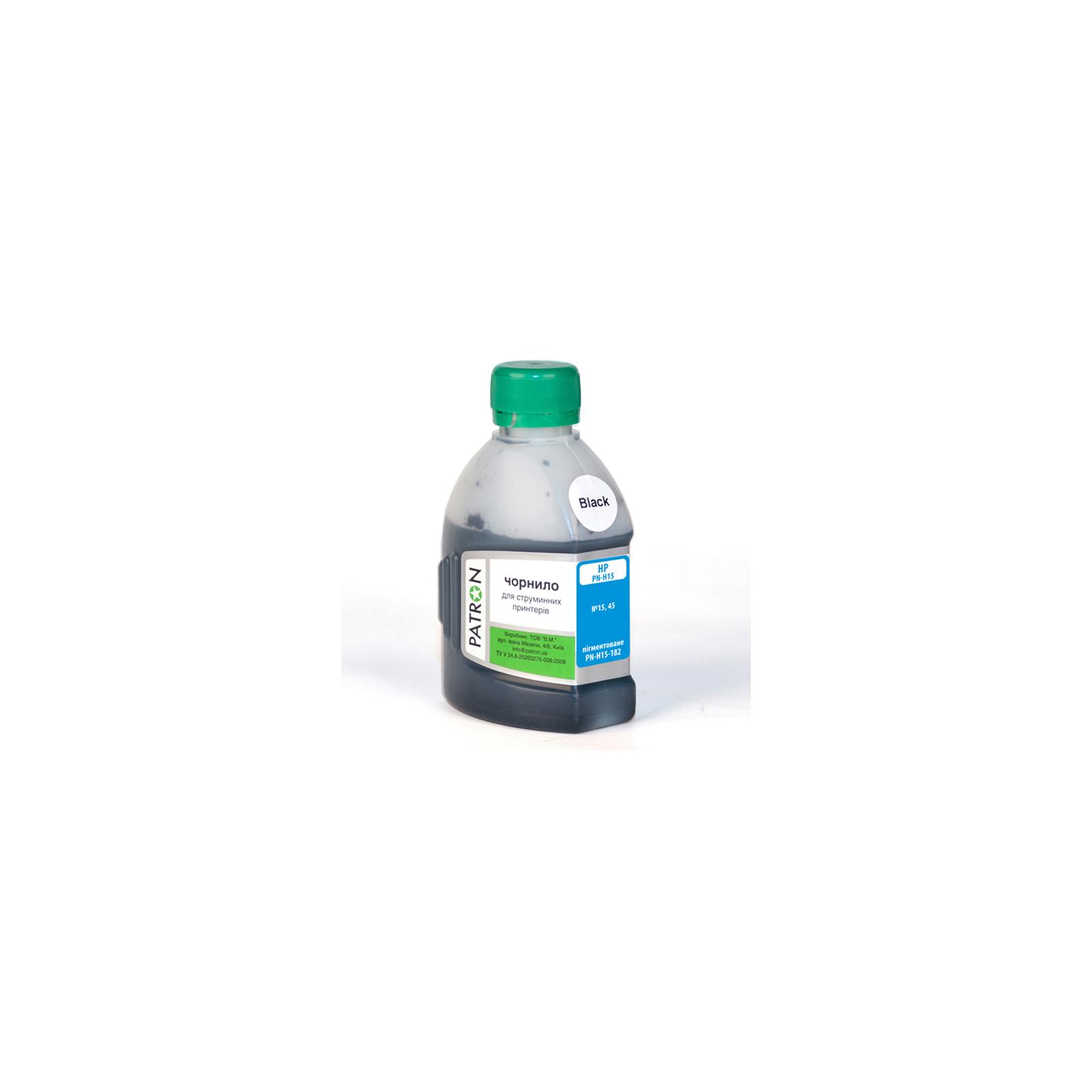 Чернила PATRON HP №15/45 BLACK pigment (I-PN-H15-180-B-P)