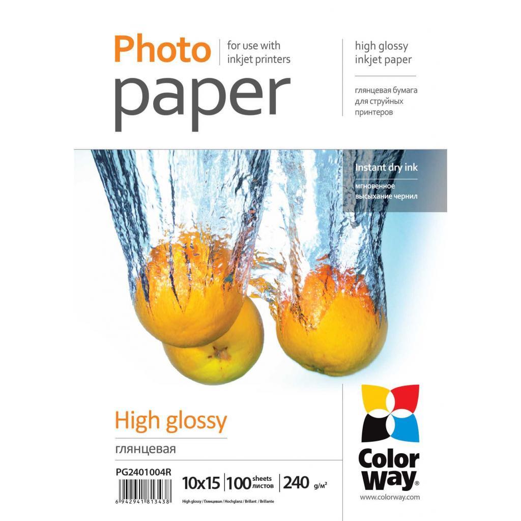 Бумага ColorWay 10x15 (ПГ240-100) (PG2401004R)