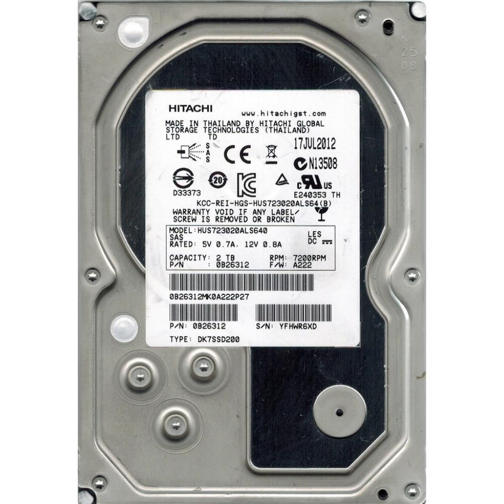 Жесткий диск для сервера 2TB Hitachi HGST (0B26312 / HUS723020ALS640)