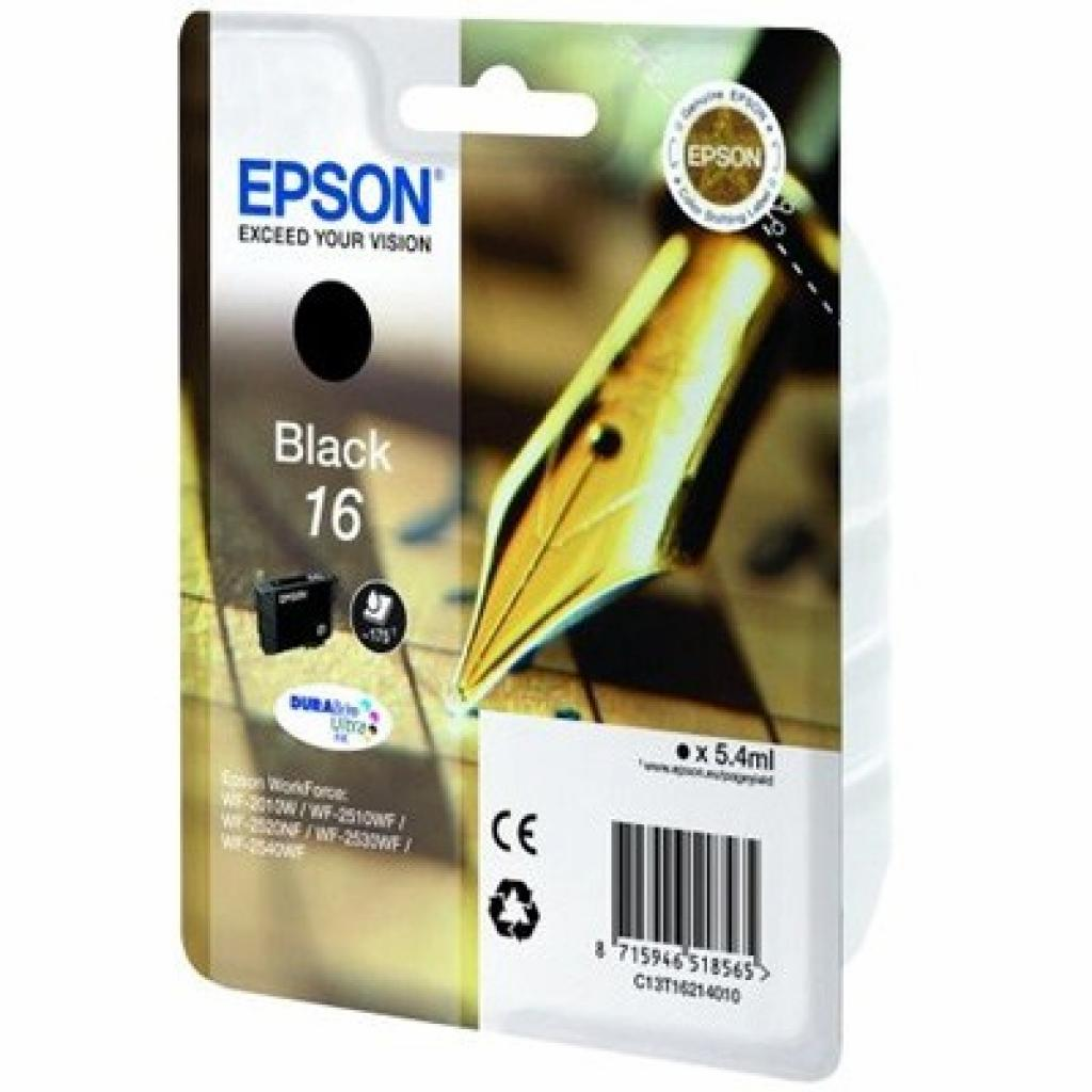 Картридж EPSON 16 WF-2010 black (C13T16214010)