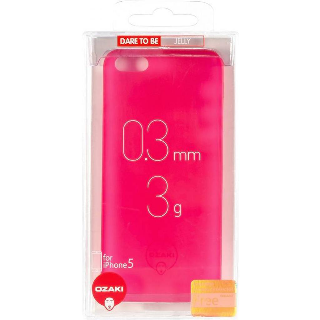 Чехол для моб. телефона OZAKI iPhone 5/5S O!coat 0.3 Jelly Red (OC533RD) изображение 4