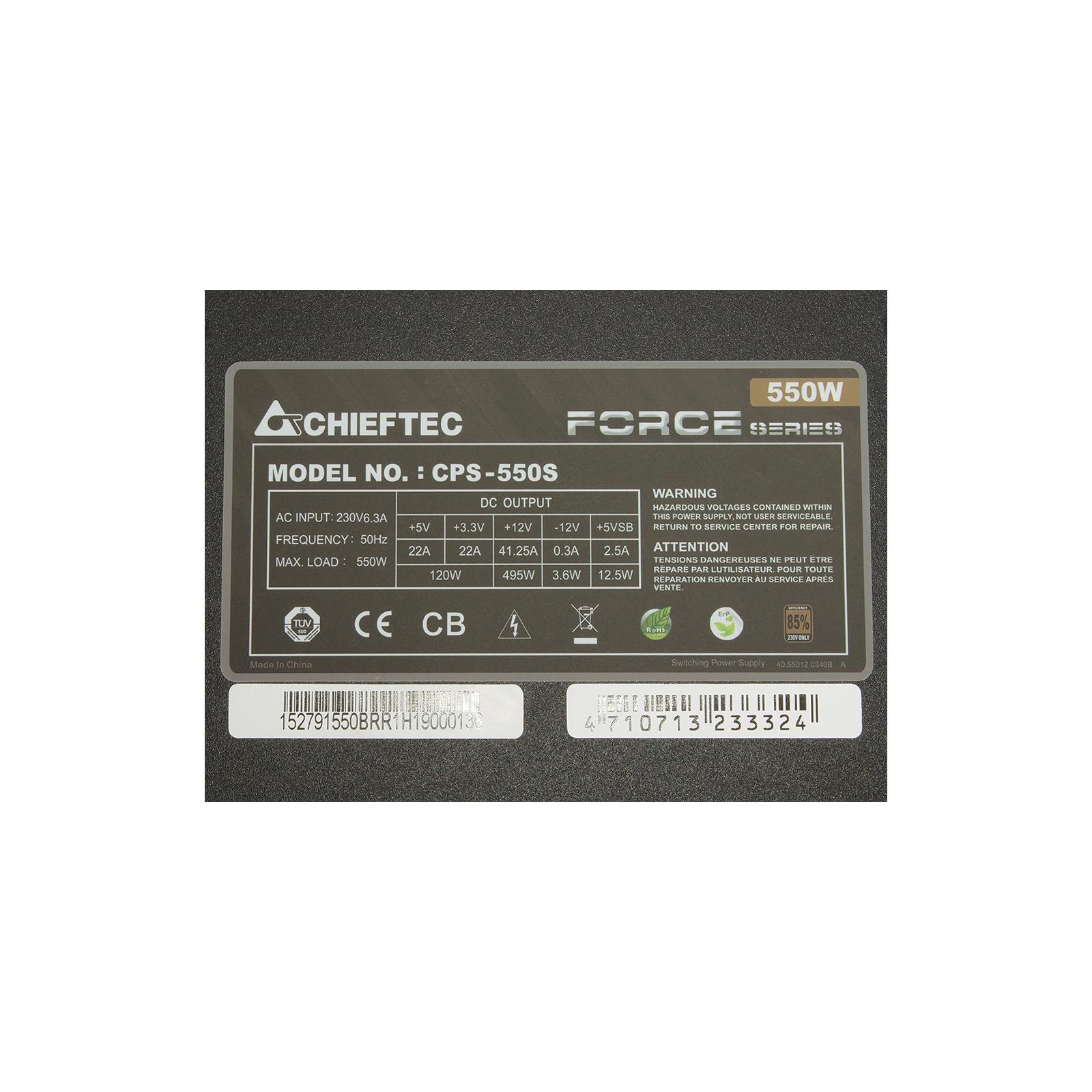Блок питания CHIEFTEC 550W (CPS-550S) изображение 5