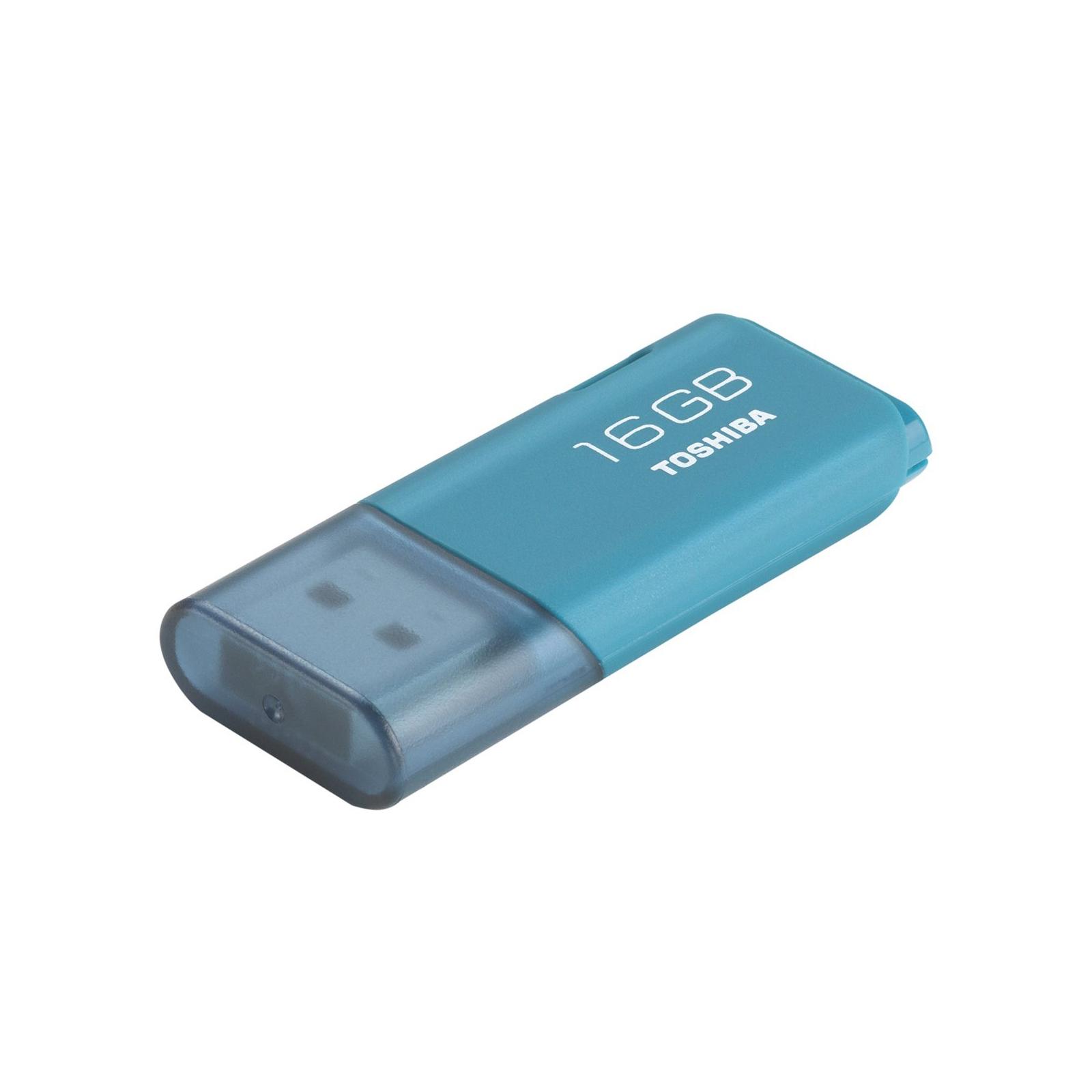 USB флеш накопитель Toshiba 16GB Hayabusa Aqua USB 2.0 (THN-U202L0160E4) изображение 2
